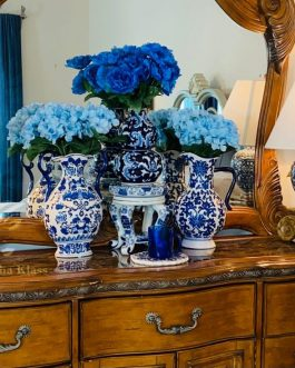 Blue Willow Vase