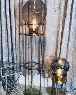 Floor lamp with giant bulb