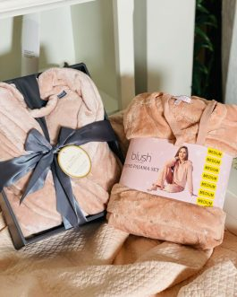 Luxury Velvet Robe and  Matching Pyjama