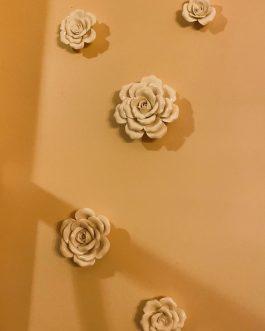 Wall Porcelaine Flowers Sets